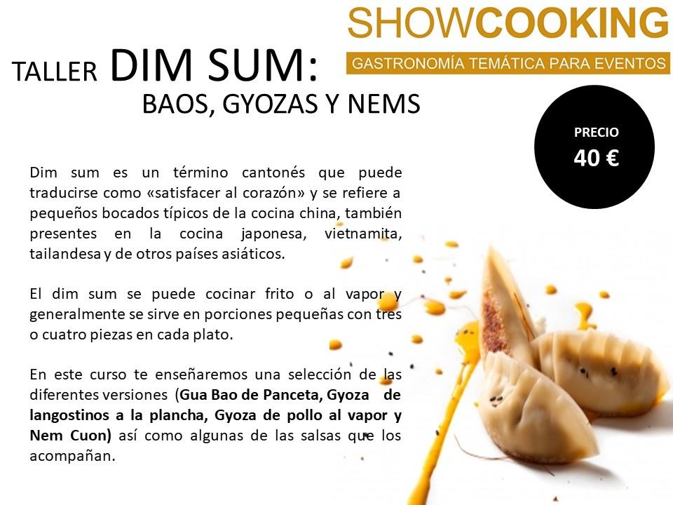 talleres de cocina, cursos de cocina en showcooking