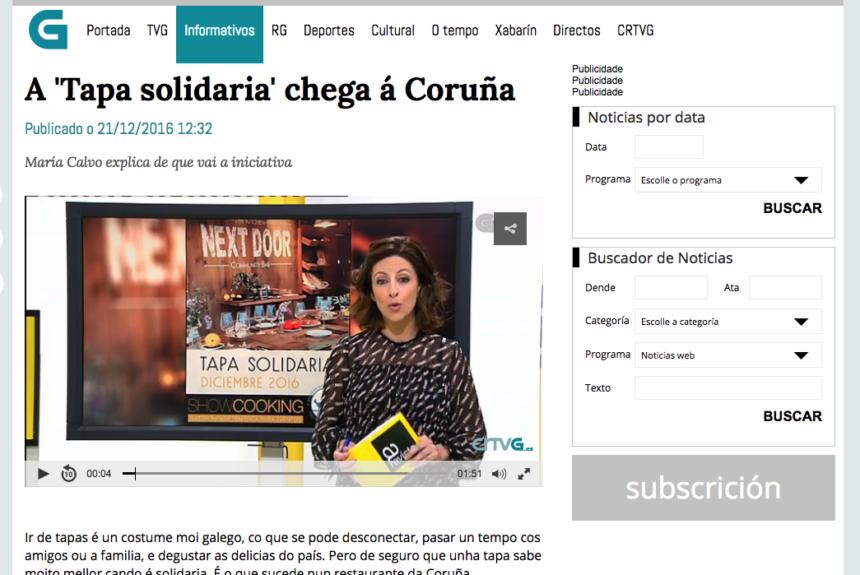 A 'Tapa solidaria' chega á Coruña – Reportaje en TVG